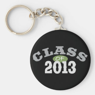 Class Of 2013 Green Basic Round Button Key Ring
