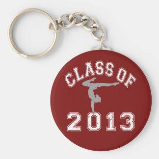 Class Of 2013 Gymnastics Basic Round Button Key Ring