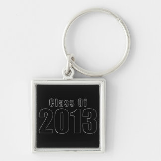 Class of 2013 Keychain Black and Silver