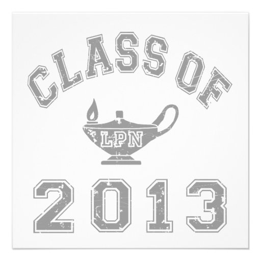 Class of 2013 LPN - Grey 2 Personalized Announcements