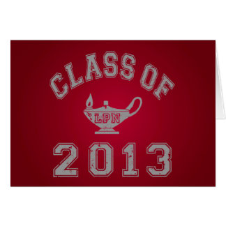 Class of 2013 LPN - Grey 2 Note Card