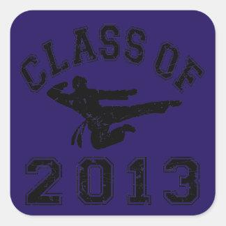 Class Of 2013 Martial Art - Black 2 Square Stickers