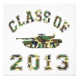 Class Of 2013 Military School - Camo 2 Personalized Invites