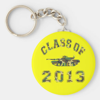 Class Of 2013 Military School - Camo 2 Basic Round Button Key Ring