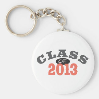 Class Of 2013 Peach Basic Round Button Key Ring
