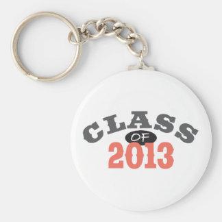 Class Of 2013 Peach Key Ring