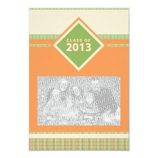 """class of 2013 : plaid grad 3.5"""" x 5"""" invitation card"""