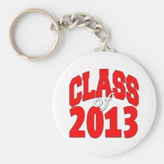 Class of 2013 (red2) basic round button key ring