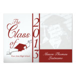 Class of 2013 Red Photo 13 Cm X 18 Cm Invitation Card