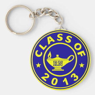 Class Of 2013 RN Basic Round Button Key Ring