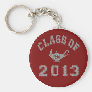Class Of 2013 RN - Grey Basic Round Button Key Ring
