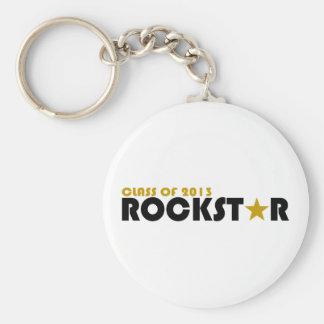Class of 2013 Rockstar Basic Round Button Key Ring