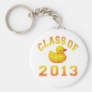 Class Of 2013 Rubber Duckie - Yellow/Orange Basic Round Button Key Ring