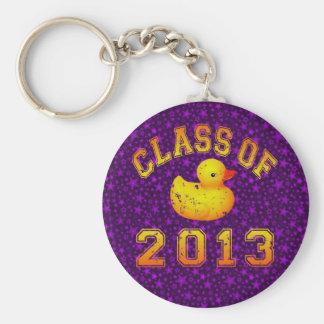 Class Of 2013 Rubber Duckie - Yellow/Orange Key Ring