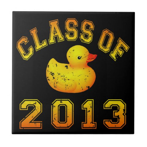 Class Of 2013 Rubber Duckie - Yellow/Orange Ceramic Tile