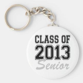 Class of 2013 Senior Basic Round Button Key Ring