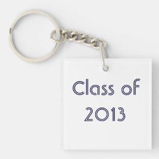 Class of 2013 Single-Sided square acrylic key ring