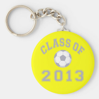 Class Of 2013 Soccer - Grey 2 Basic Round Button Key Ring
