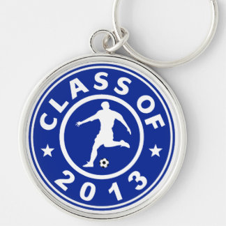 Class Of 2013 Soccer Silver-Colored Round Key Ring