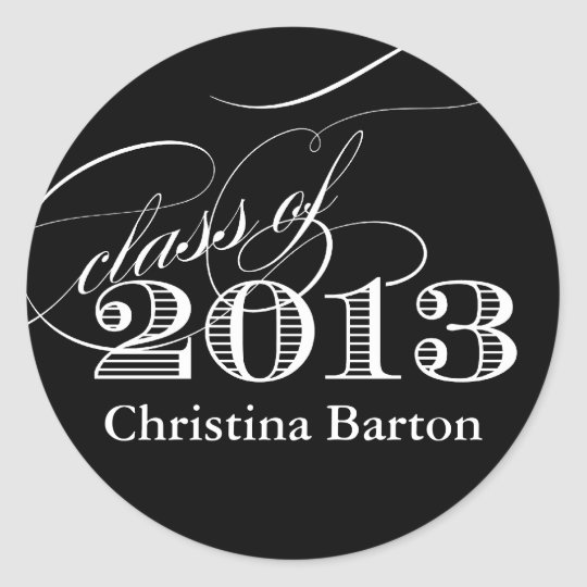 Class of 2013 Sticker- Customise it! Classic Round Sticker