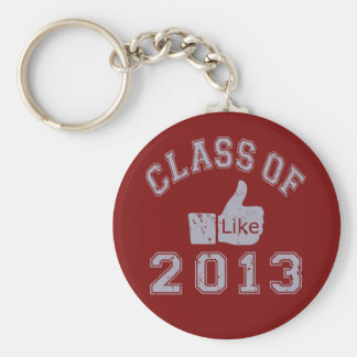 Class Of 2013 Thumbs Up Basic Round Button Key Ring