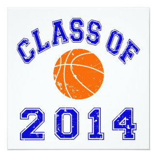Class Of 2014 Basketball - Orange/Navy 2 Card