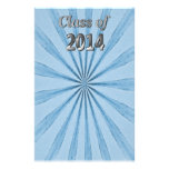 Class of 2014 Blue and Silver Stationery Paper