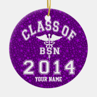 Class Of 2014 BSN Round Ceramic Decoration