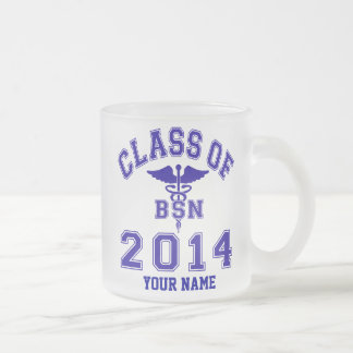 Class Of 2014 BSN Frosted Glass Mug