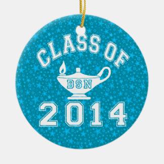 Class Of 2014 BSN Round Ceramic Decoration