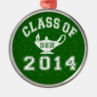 Class Of 2014 BSN Silver-Colored Round Decoration