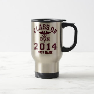 Class Of 2014 BSN Stainless Steel Travel Mug