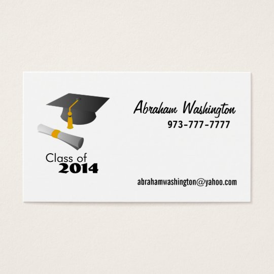Class of 2014 Business Cards