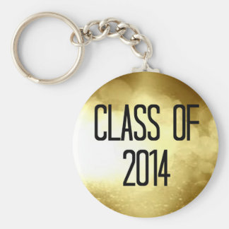class of 2014 gold background keychains