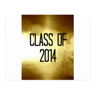 class of 2014 gold background post card