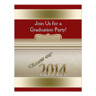 Class of 2014 Gold Personalized Graduation Photo Personalized Invites