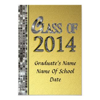 Class Of 2014 Gold & Silver Graduation Invitations