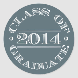 Class of 2014 Graduation Sticker Blue   White