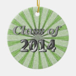 Class of 2014 Green and Silver Christmas Tree Ornaments
