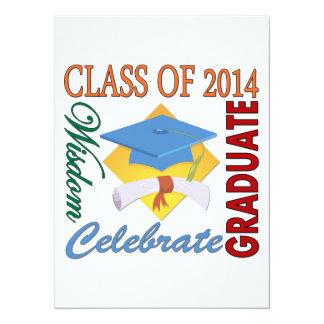 "Class of 2014 5.5"" x 7.5"" invitation card"