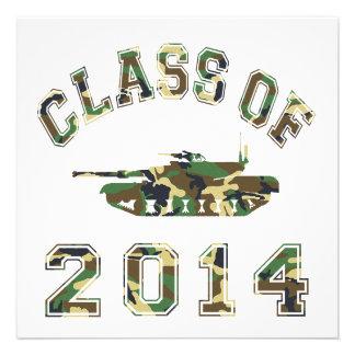Class Of 2014 Military School Camo 2 Invitations