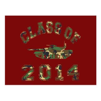 Class Of 2014 Military School Camo 2 Postcard