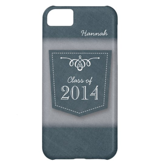 Class of 2014 on Blue Jean Pocket iPhone 5C Case