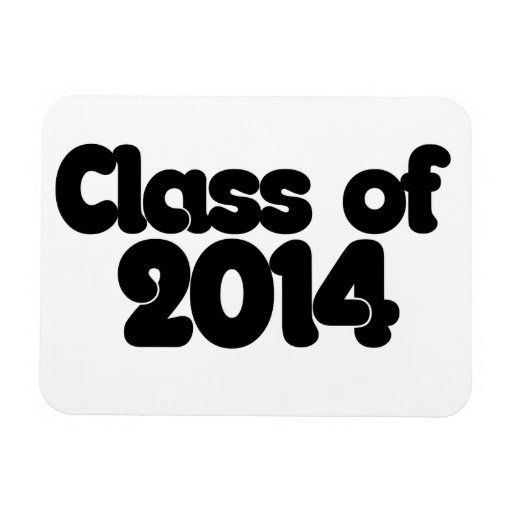 Class of 2014 vinyl magnets