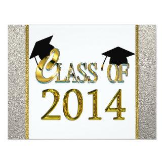 Class Of 2014 Silver & Gold Graduation Invitations