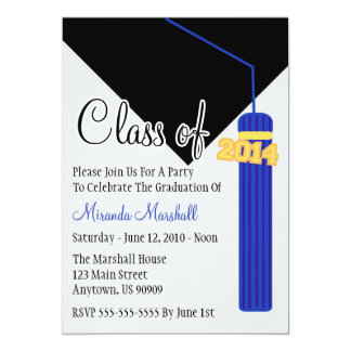 Class Of 2014 Tassel Graduation Invite (Blue)