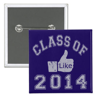 Class Of 2014 Thumbs Up 15 Cm Square Badge