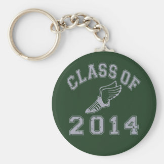 Class Of 2014 Track & Field Grey 2 Basic Round Button Key Ring