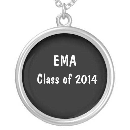 Class of 2014 (White Text) Necklace