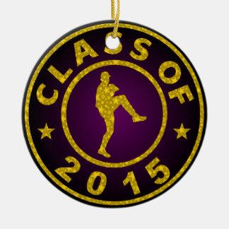 Class Of 2015 Baseball Round Ceramic Decoration